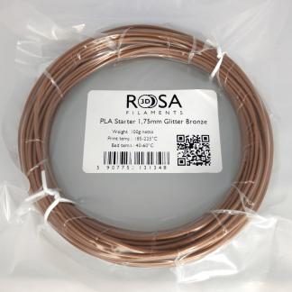 PLA Starter Glitter Bronze 100g ROSA3D