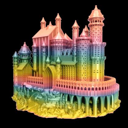 PLA_Rainbow_Silk_castle_1